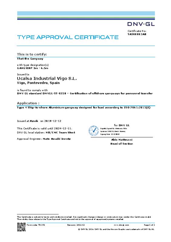 TAS00002AB -DNV-TA-ISO-GANGWAY-3-6.5m